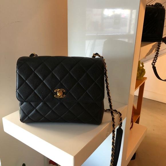166dcda4536a CHANEL Bags | Sold Caviar 24k Gp Cc Square Crossbody | Poshmark